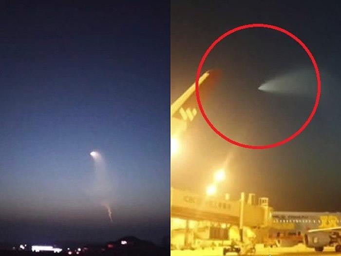 UFO?中国多地惊见发光不明飞行物 军事迷推测是巨浪3导弹