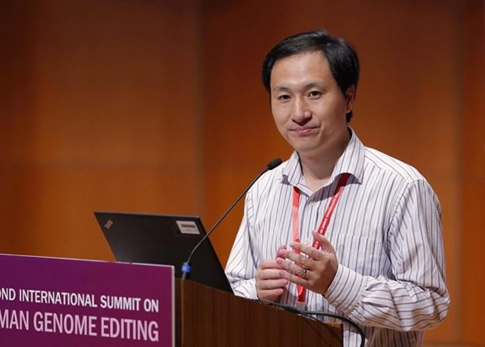贺建奎修改胚胎基因引发争议。
