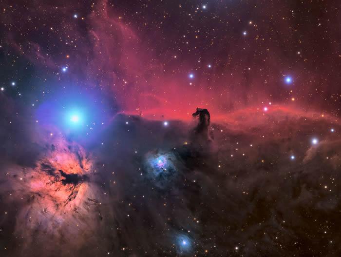 美国摄影师Connor Matherne的作品The Horsehead and Flame Nebula© 照片: CONNOR MATHERNE/