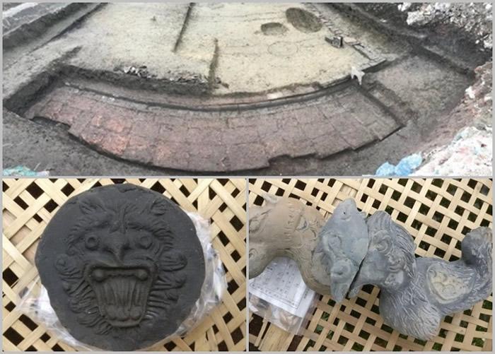 四川省成都市发现明代建筑遗址 出土龙凤纹琉璃构件