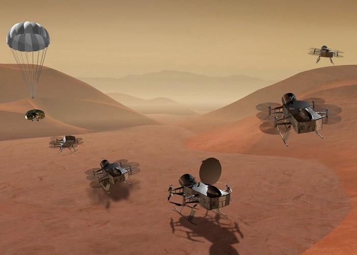 NASA计划将蜻蜓号送到提坦寻找生命迹象。
