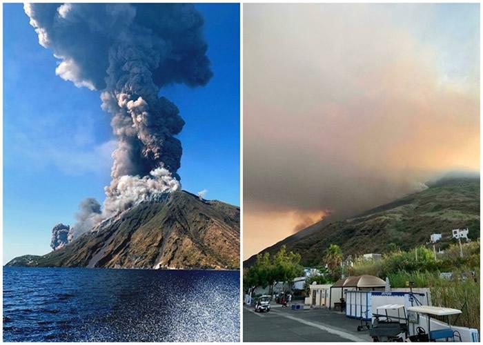 意大利斯特龙博利岛火山突然爆发导致登山客死亡 教士:火雨落下如地狱