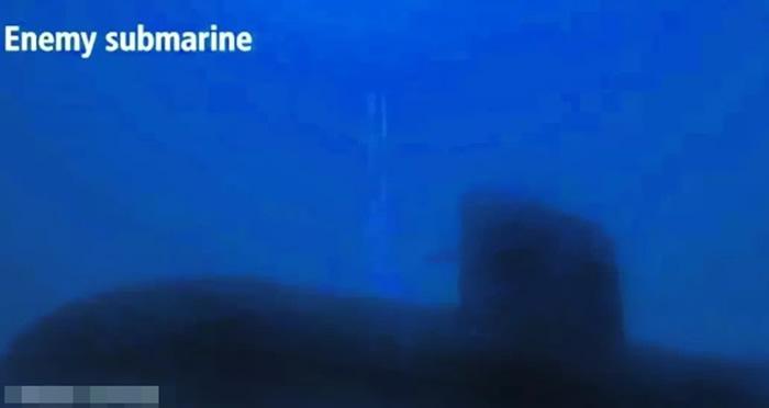 宣传片画面出现俄制潜艇。