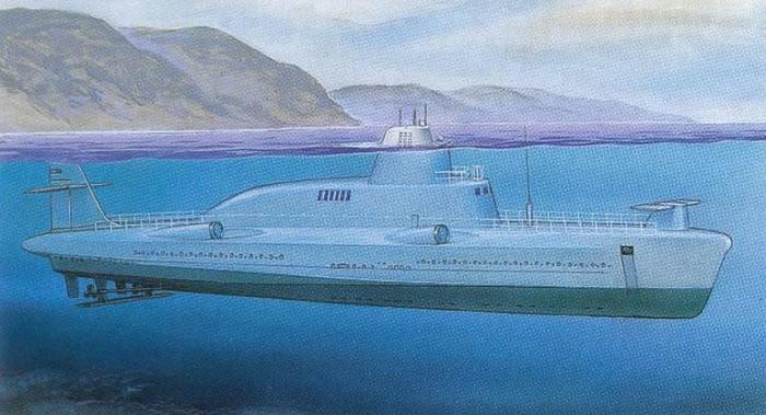 """前苏联未能实现的宏伟战舰计划:排水量超过6.5万吨的战列舰和""""海豚""""号导弹潜水艇"""