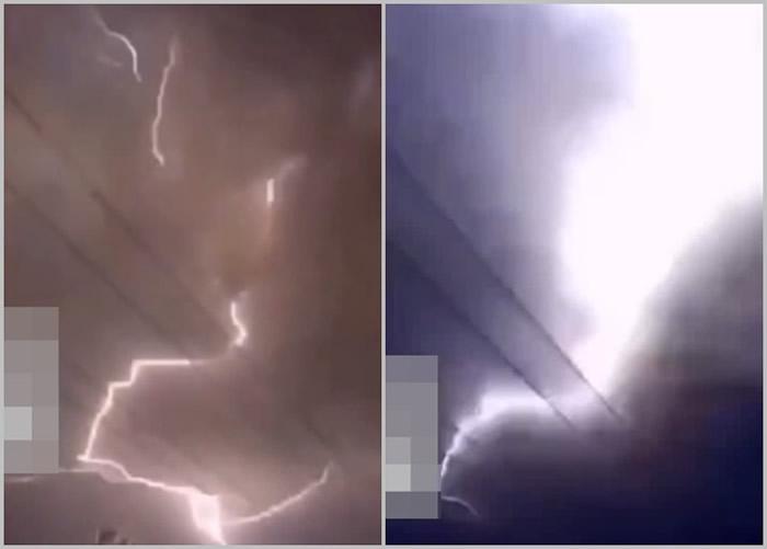 黑龙江大庆市出现罕见雷暴天气 一夜间共录得64次电闪雷鸣