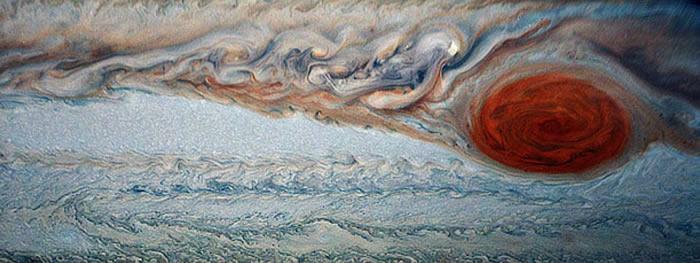 """""""朱诺""""号木星探测器向地球发回太阳系最大气旋——木星大红斑的新图像"""