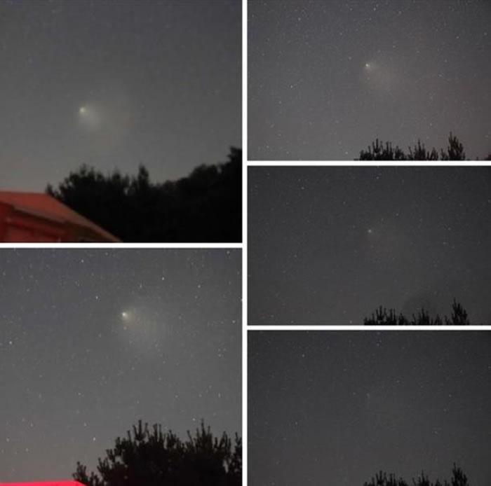 8月7日七夕节韩国夜空出现神秘UFO