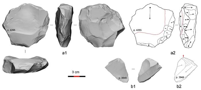 观音洞遗址石制品技术分析举例