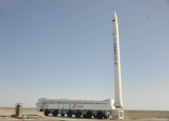 """中国首次引进商业航天发射 """"捷龙一号""""运载火箭成功升空"""