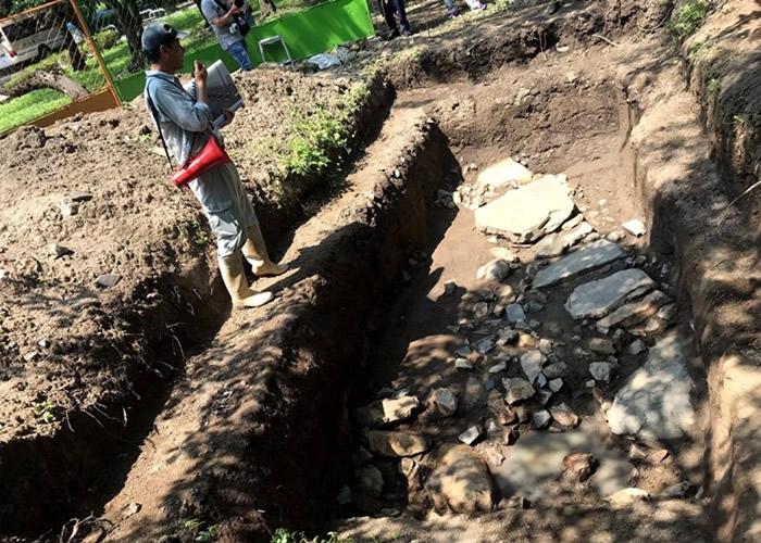 日本滋贺县长滨出土逾400年历史石墙 助研究丰臣秀吉古城