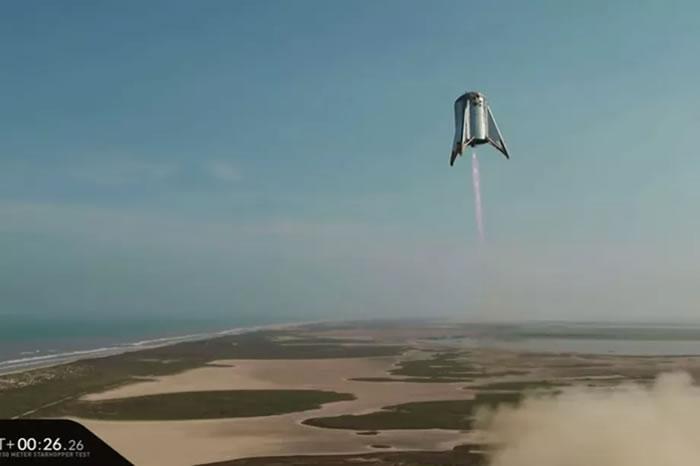 "SpaceX火星飞船""星虫""第二次测试视频曝光"