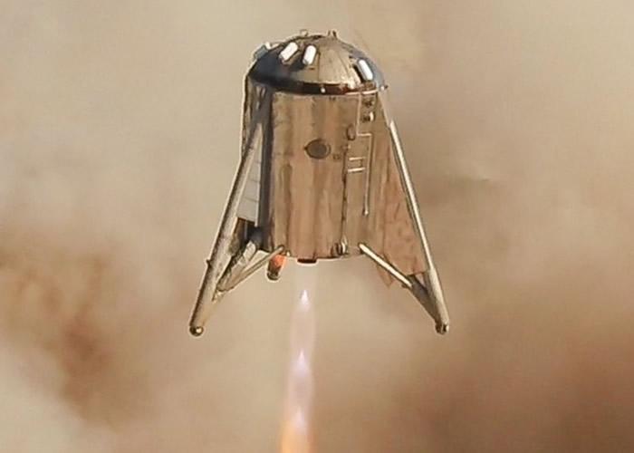 "SpaceX火星飞船原型测试机""星际跳跃者""最终试飞 57秒升空150米"