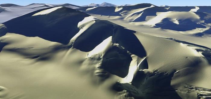 """""""UFO_scandinavia"""":南极洲卫星图片发现外星人人脸"""