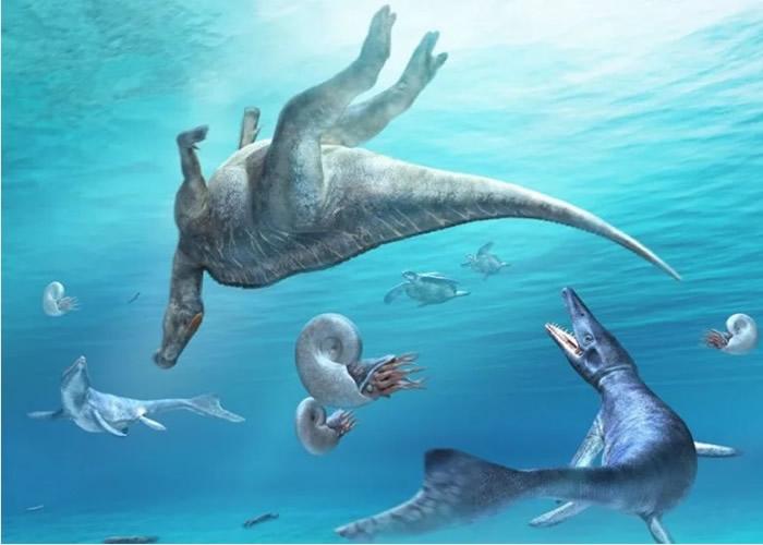 科学家相信部分恐龙栖身于沿海或海中。