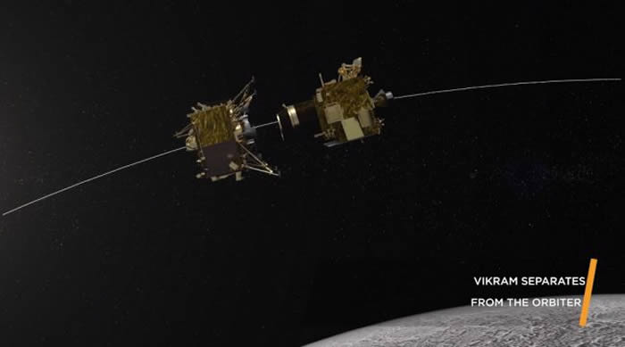 印度登陆器维克蓝号在登陆月球南极前突然失联 登月任务失败