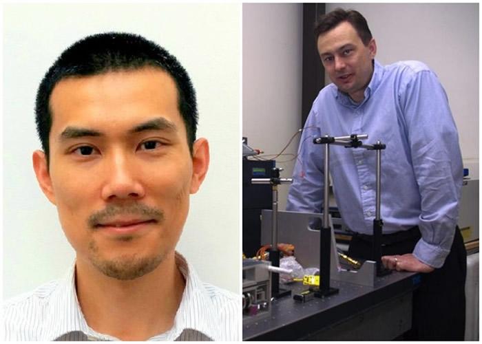 沃德尔(右)及崔可航(左)无心插柳制出新物质。