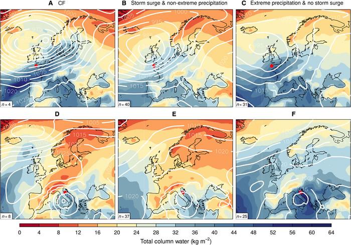 北欧国家未来出现复合型水淹的风险可能性会大大增加