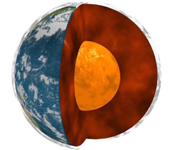 地球最深处的地核物质泄漏到地幔柱已有25亿年时间