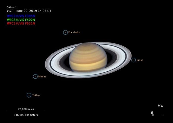 """哈勃太空望远镜捕获土星及土星环的新""""肖像"""""""