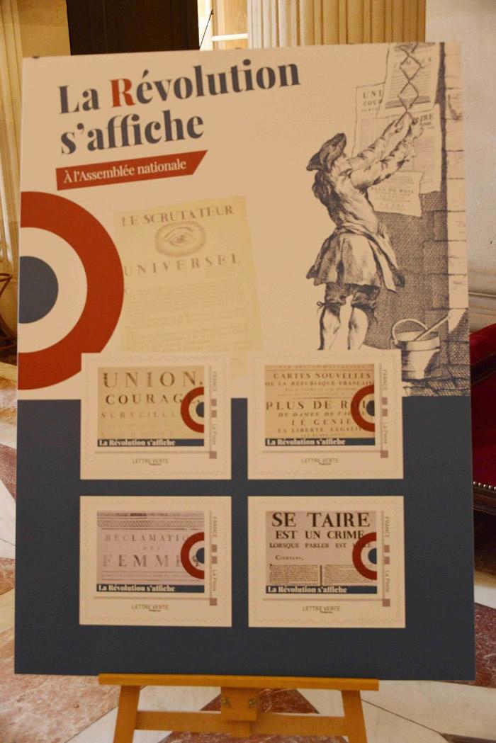 官方发行法国大革命周年纪念邮票。