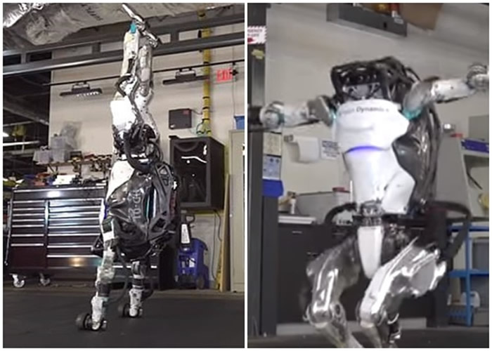 """美国波士顿动力公司推出能在恶劣环境下完成各种复杂工作的机器人""""Spot""""和""""Atlas"""""""
