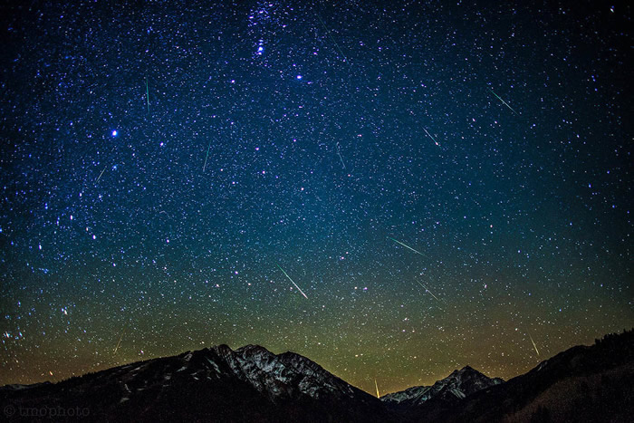2019年10月份天文现象概况:猎户座流星雨和天龙座流星雨降临