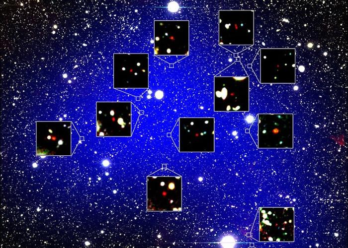 """日本天文学家在鲸鱼座方位发现距离地球130亿光年的原始银河星团""""z66OD"""""""