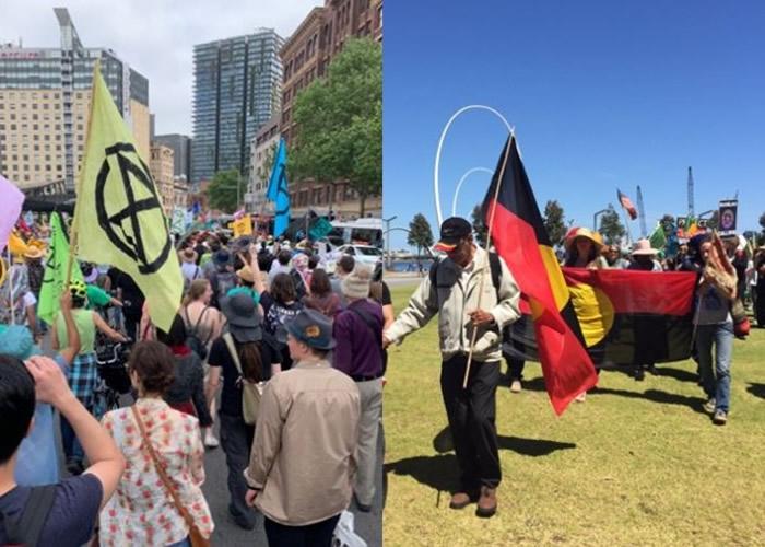 澳洲多个城市有民众发起示威。