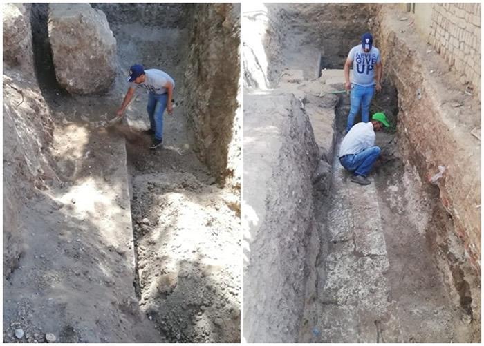 埃及尼罗河污水渠工程挖出2200年前法老托勒密四世的寺庙