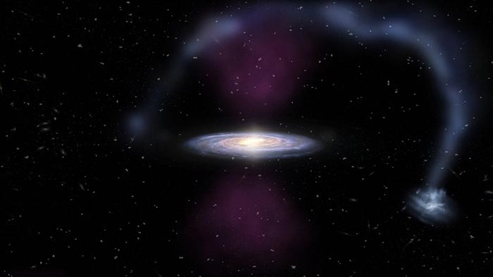 350万年前银河系中心黑洞附近曾发生一次持续30万年的大爆炸