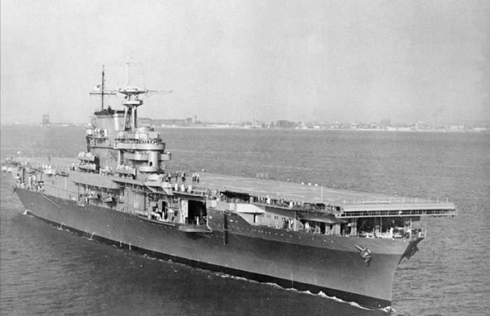 参加过中途岛战役的美军大黄蜂号(USS Hornet,CV-8)航母