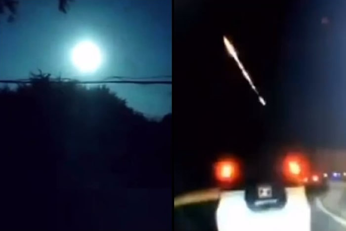 火流星:吉林省松原市凌晨一颗陨石坠落亮如白昼
