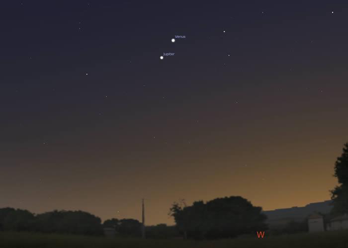 2019年11月24日金星合木星