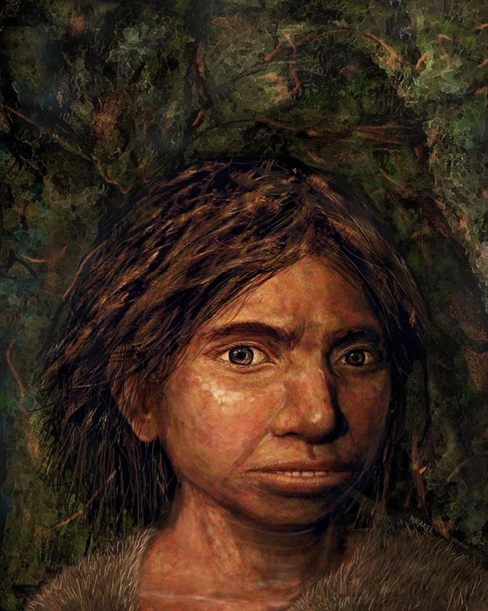 丹尼索瓦人女孩的模样