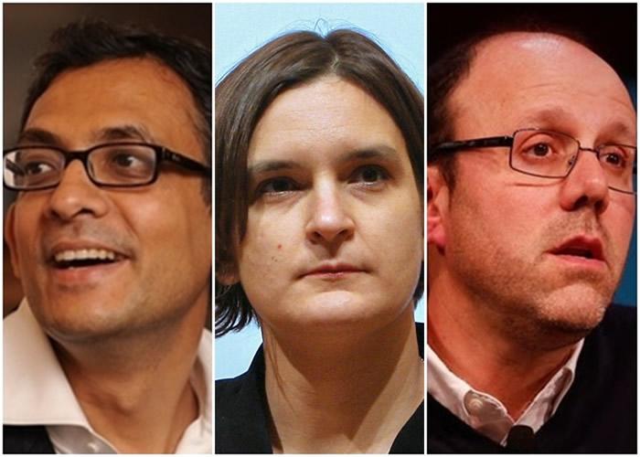 班纳吉、迪弗洛、克雷默(左起)同夺诺贝尔经济学奖。