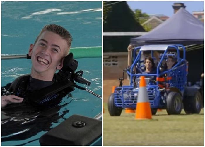 澳洲脑瘫少年研外骨骼辅助器 助身障者安全出游
