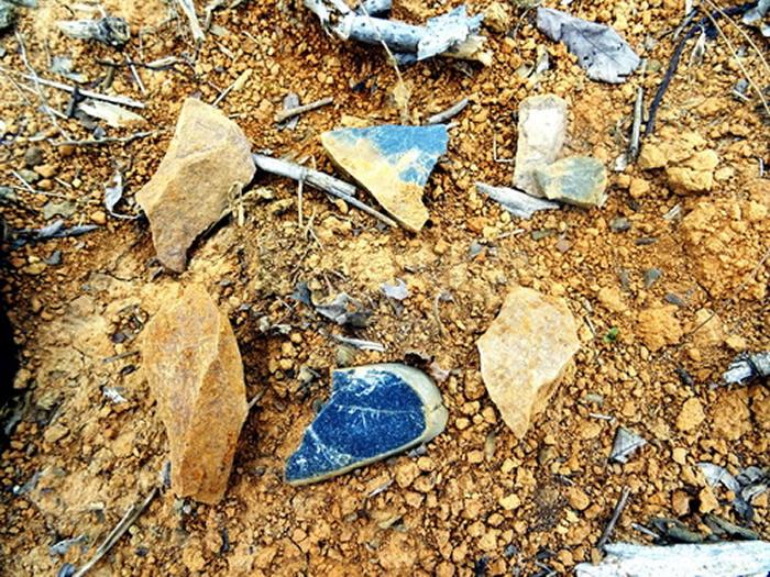 摩天岭遗址地表发现石制品