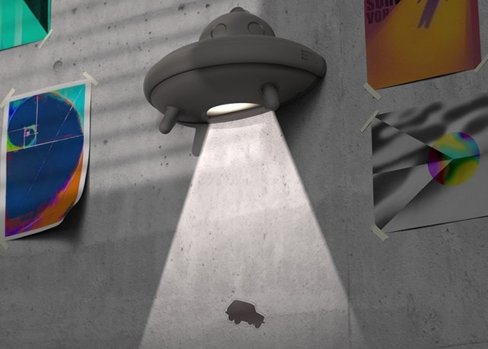 韩国设计师以UFO元素设计墙灯Mystic 启发孩子的想像力