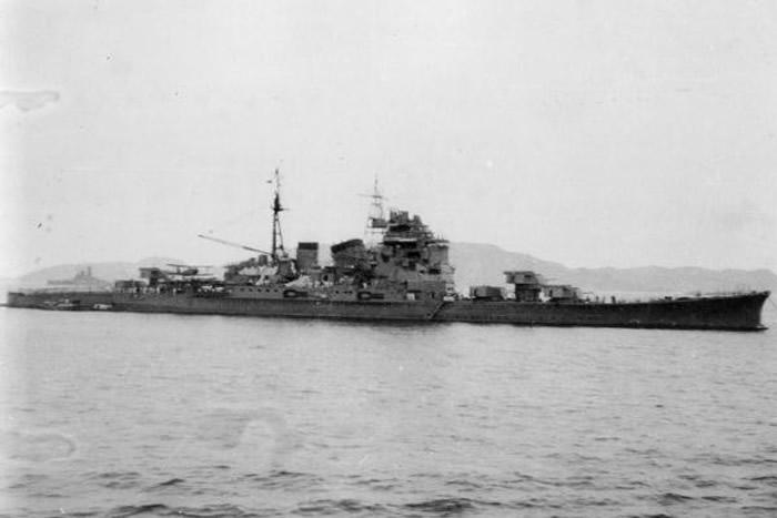 """二战日军重巡洋舰""""鸟海号""""现身菲律宾海域5173米海底 萨马岛海战后已沉船75年"""