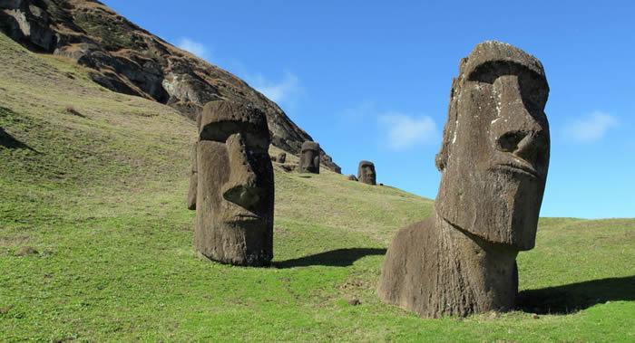 复活节岛500年前雕刻摩艾石像帮助当地人发展农业