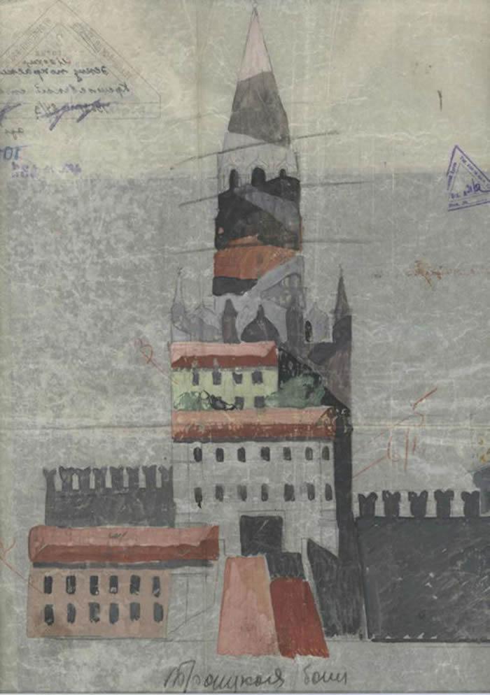 莫斯科克里姆林宫的掩饰伪装草图