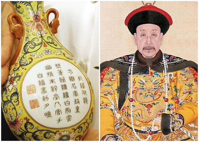 英国男子用1英镑买下的极具中国色彩小花瓶以48.4万英镑售出 原来是清朝乾隆皇帝所有