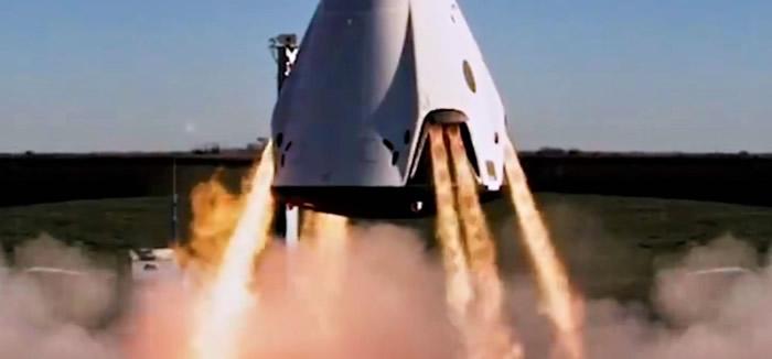 """美国太空探索技术公司(SpaceX)已成功开展最新式载人""""龙""""飞船疏散系统的地面点火试验"""
