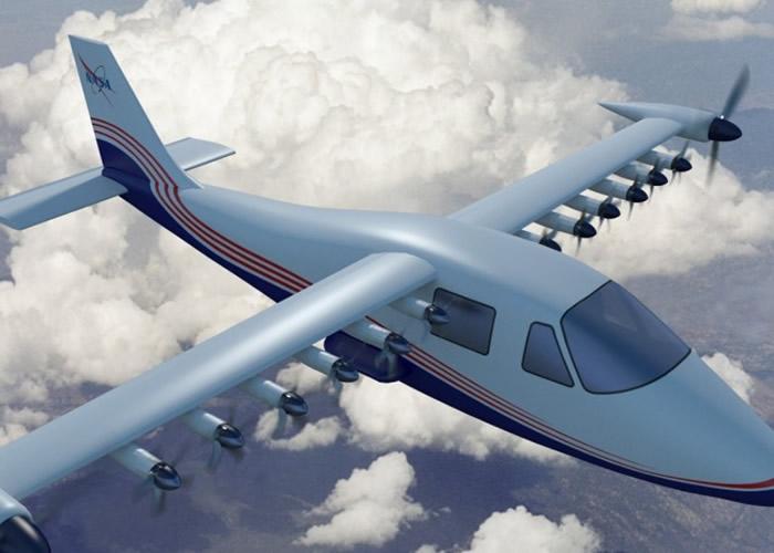 """美国太空总署(NASA)展示旗下首架全电动实验性飞机""""X-57 Maxwell"""""""