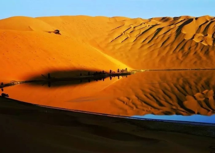 宁夏回族自治区中卫市的腾格里沙漠再发现大面积污染物 没有进入自然保护区