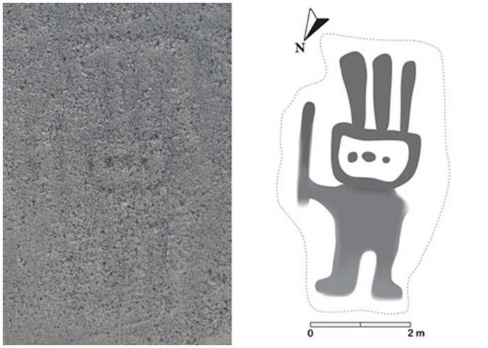 日本山形大学在秘鲁纳斯卡沙漠新发现143处人和动物形状的地画 首次使用人工智能分析航拍照后发现