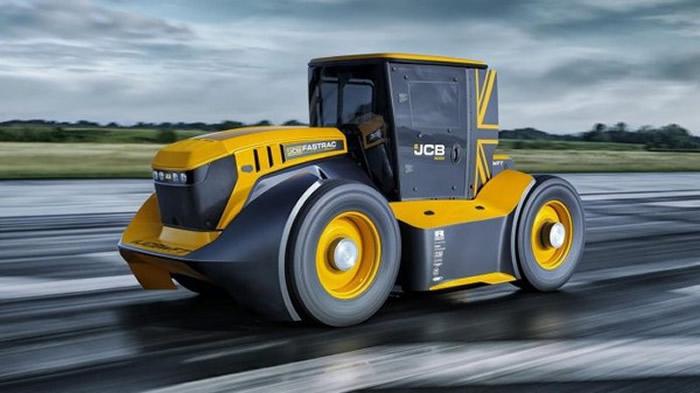 英国农业机具制造商JCB打造世界上最快的拖拉机JCB Fastrac Two 创吉尼斯世界纪录