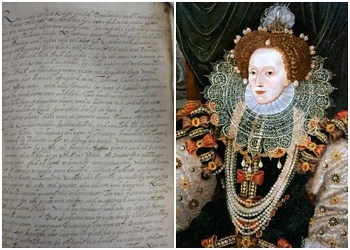 伊丽莎白一世(右)的翻译手稿(左)曝光。