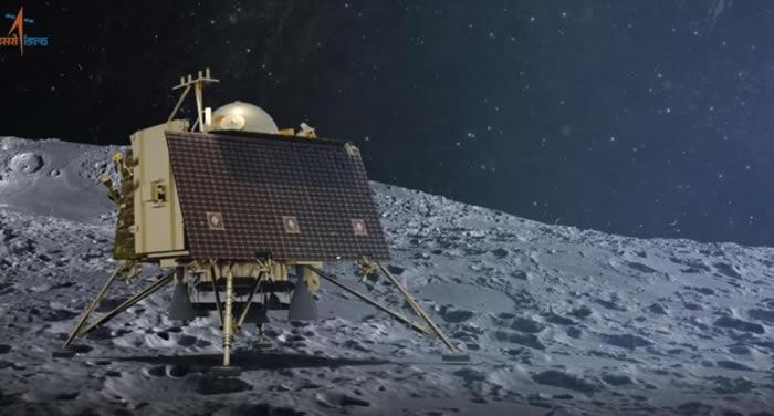 "NASA的月球勘测轨道飞行器在月球表面发现着陆时坠毁的印度""维克拉姆""号着陆器残骸"