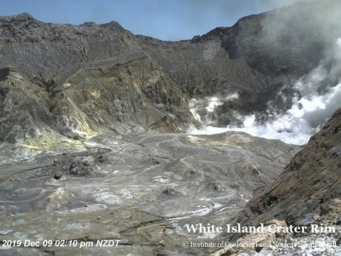 新西兰怀特岛火山爆发 5人确认罹难20多人失联